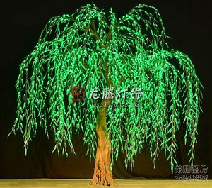 Wholesale Professional landscape artificial led weeping willow tree with solar