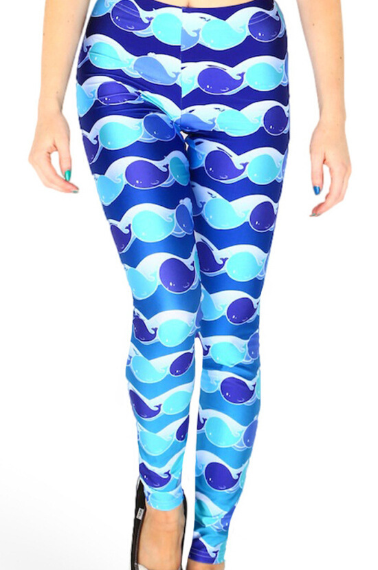 d82c8a0d6c41c Get Quotations · Drop ship S-4XL 2015 Women The blue whale Leggings MIlk  Leggings Galaxy leggings Plus