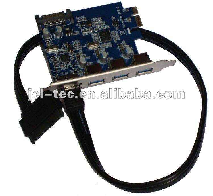 3 Port Usb 3.0 +power Esata ( Sata Iii) To Pci Express Pci -e Card ...