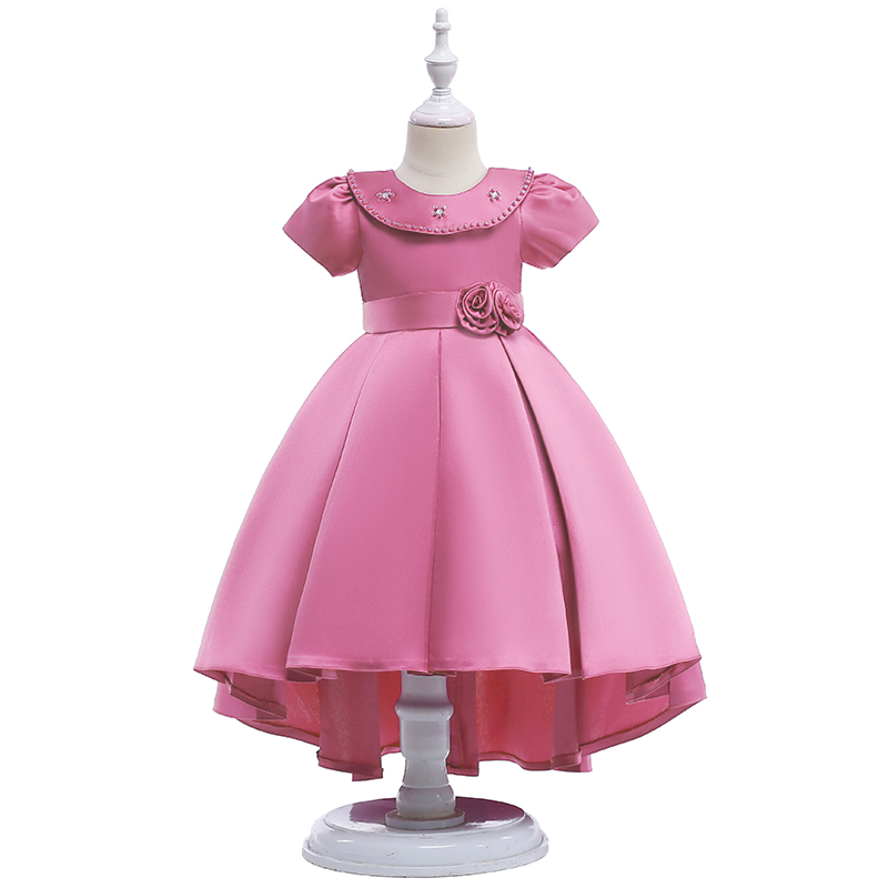 Luxury Boutique Design Kid's Frock Smocked Children's Clothing Fancy Birthday Party Dress L5008