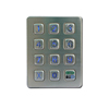 fashion exterior digital metal keypad infrared laser keyboard