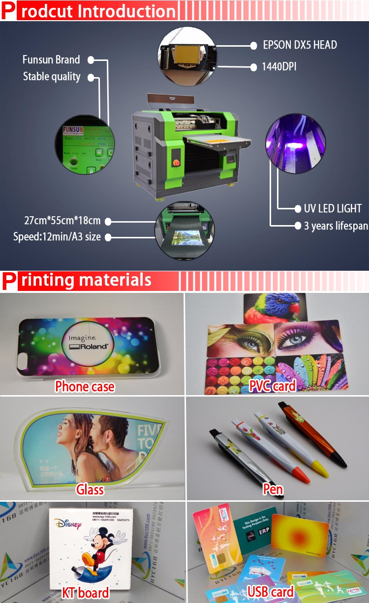 Diy Phone Case A3/a4 Size Uv Printer For Id Card Printing