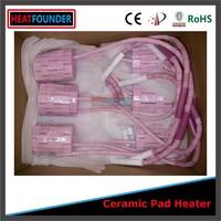 Cheap rapid heating flexible alumina ceramic heating pad