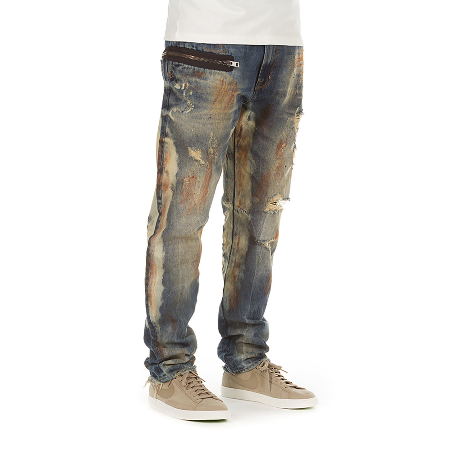 e72bb62ee59 Get Quotations · Akoo Namimbia Jeans In EL Dorado Distressed 781-2170