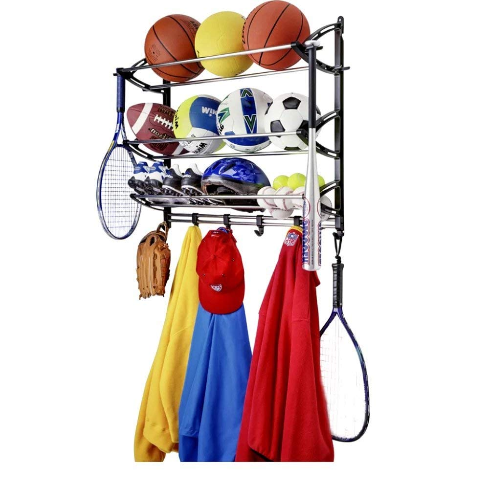 Get Quotations Sports Theme Coat Rack And Sport Equipment Storage For Garage Wall Mounted Metal