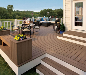 2017 Hdpe Wpc Decking Exterior Wood Plastic Composite Outdoor Flooring With Good Price Waterproof Boards