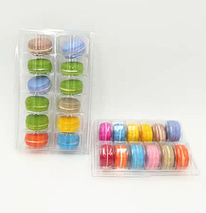 Food grade PET or PVC plastic trays for macarons cakes