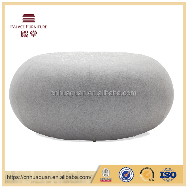 F006 Fabric sofa pouf in office lounge seating