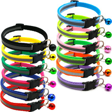 Wholesale Custom Reflective Pet Collar for Cats and Small Dogs with Bell Adjustable cat Collar