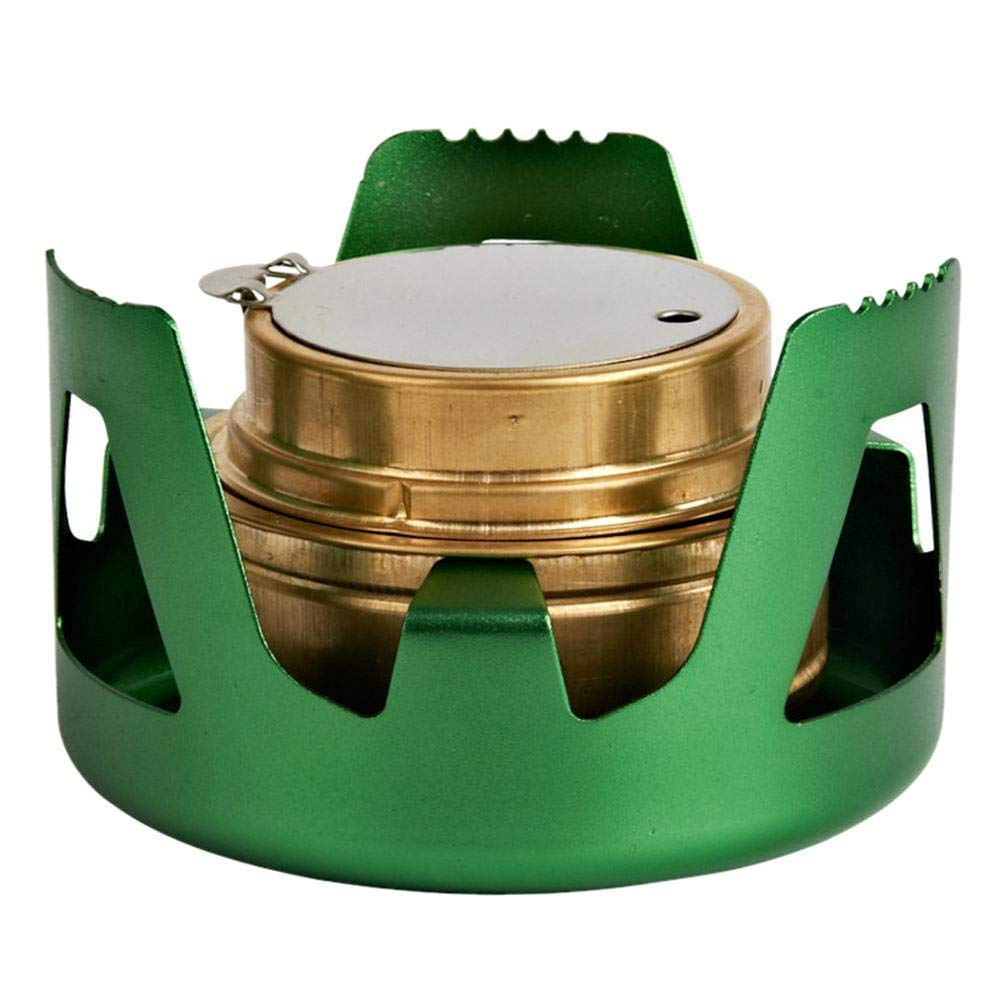 Pride&Pound Portable Camping Alcohol Stove Outdoor Burner Furnace Aluminium Alloy Brass Mini Alcohol Stove for Outdoor Camping, Hiking,Picnic,Barbecue, Backpacking