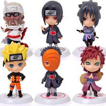 6 pz/<span class=keywords><strong>set</strong></span> <span class=keywords><strong>Naruto</strong></span> Uzumaki <span class=keywords><strong>Naruto</strong></span> PVC Action Figure Giocattoli