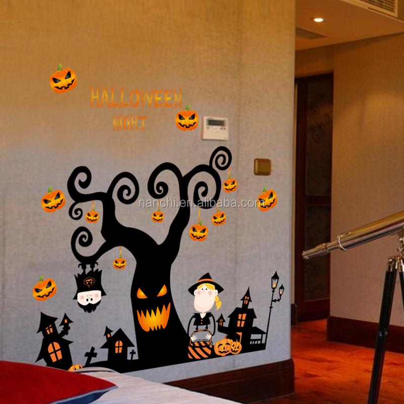 Feliz halloween vinilo pared pegatinas para ni os for Decoracion hogar halloween