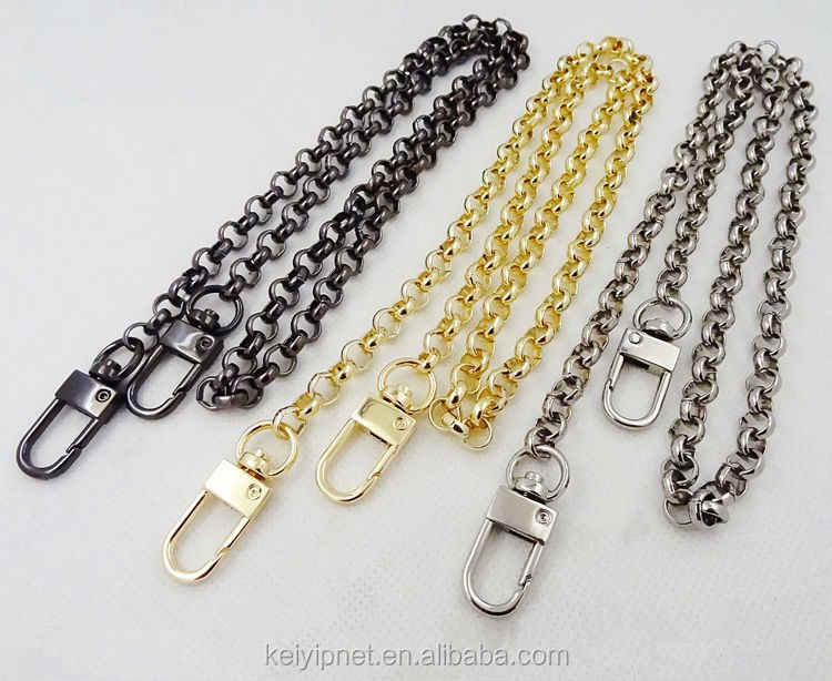 Decorative Metal Handbag Chain For Purse Bag View