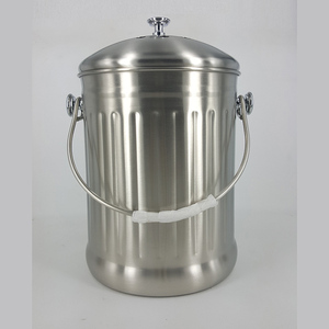 New quality assured stainless steel trash bin with ashtray and lid painted