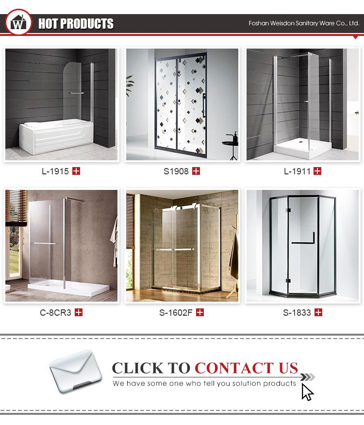 High  quality stainless steel frame tempered glass sliding door shower room 3 panel sliding shower door