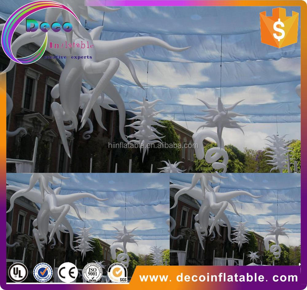 Wedding decoration inflatable led star for sky lantern