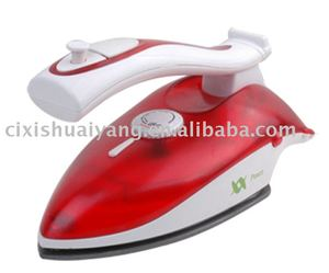 SY-602 Teflon-coated Dual Voltage Travel Steam Iron with Vertical Steaming and Burst steaming,handle flexible