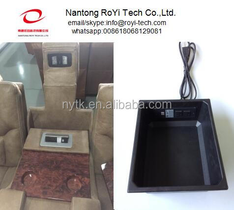 Reclining Sofa use furniture power distribution units/pop up socket with USB charge/flush mount in sofa Storage Box