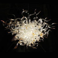 Wholesale 100% Hand Blown Glass Modern Art Chandelier Chihuly Style LED Bulbs Villa Decor Chandeliers