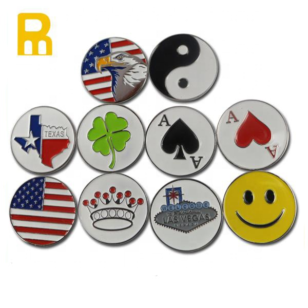Custom logo double side golf ball marker golf accessories фото