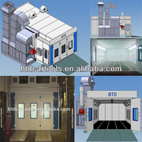 spray baking booth/waterfall spray booth/automotive paint spray booth with CE