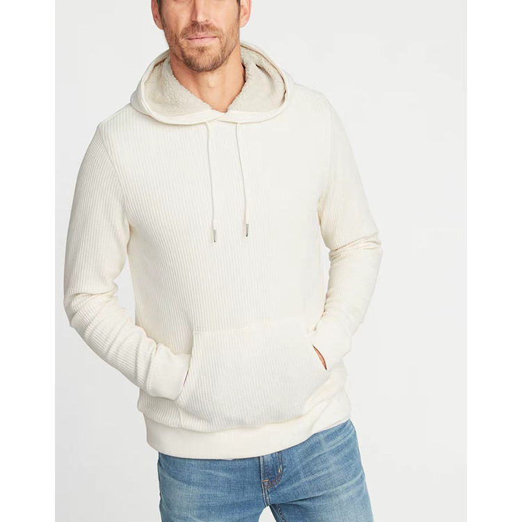 Latest Style Pure Color Thick Mens Hoodie Sweater Plain