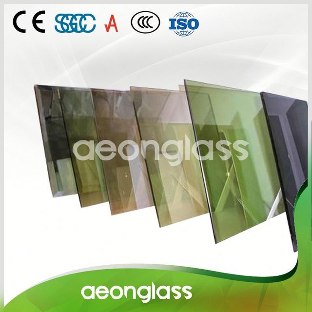 CE Certificate High Visible Light Transparence 4mm 5mm 6mm Clear Bronze Colored Reflective Glass Sheets