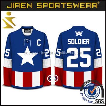 Sublimation Printing Team Set Custom Hockey Jerseys Wholesale Blank