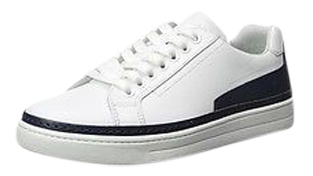 Prada White Leather Lace-Up Sneakers Shoes Size 7.5/39.5