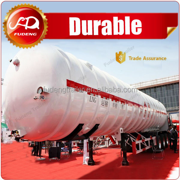 60000L safe transport Liquefied Natural Gas lng semi trailer
