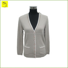 Autumn V-neck womens cashmere cardigans for sale
