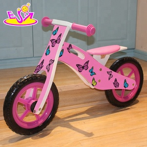 Children favorites Lovely butterfly wooden bike for children W16C125