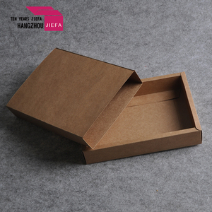 professionally customized foldable brown kraft paper box
