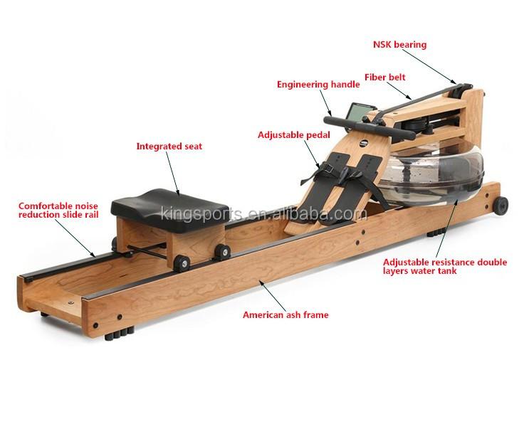 Wood Frame Water Rower Rowing Machine By Waterrower Power ...