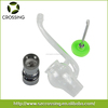 Top quality silicone smoking pipes dab globe glass wax atomizer with dual quartz rod coil