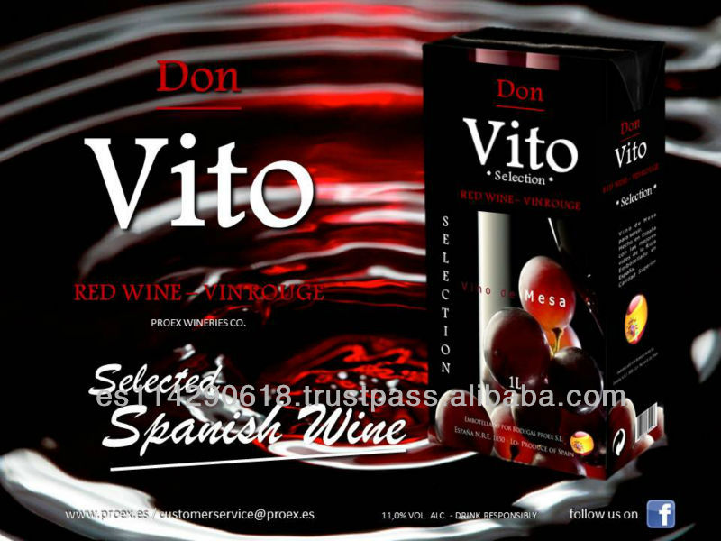 Don Vito Red Wine 11.0% Carton 12x1l