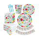 Factory Custom Llama Party Supplies Llama Themed Birthday Party Tableware Kit For 16 Guests