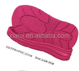 fashional pure color waterproof beach shoes tpr sale outsole
