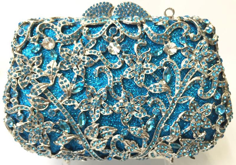 8ddd43c41a06 Wholesale Royal Blue Crystal Evening Bag Women Party Clutch Purse ...