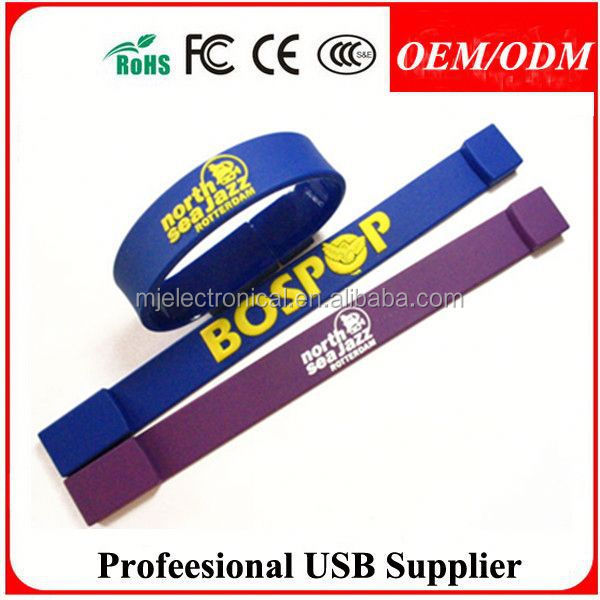 custom printed logo usb pen drive 512gb , promotional gift rfid silicone wristbands
