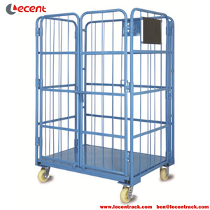 Foldable Nesting Roll Cage Container For Supermarket Warehouse