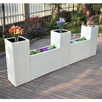 Alibaba & Jsj-fp0017 Garden Wicker White Outdoor Flower Pots With Plastic - Buy Flower PotsWicker Flower PotsFlower Pots With Plastic Product on Alibaba.com