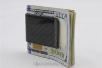 Real Carbon Fiber Money Clip Business Credit Card Holder Wallet Gloss Carbon Money Clip