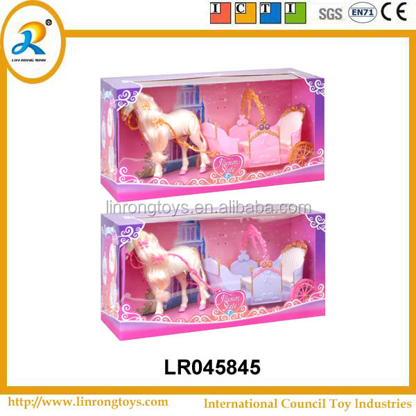 Children's toys electric carriage with Horse sound (2 colors mixed)
