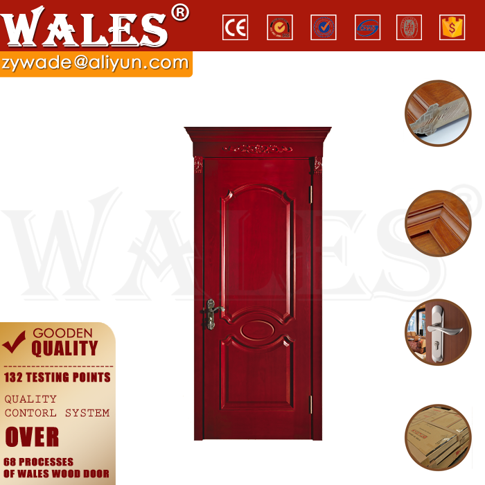 Fireproof design interior solid wooden storage room shed door