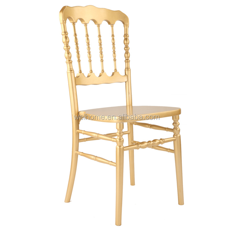Wholesale banquet napoleon chairs wooden chair with wooden frames