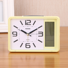 Plastic material and calendar function digital alarm clock
