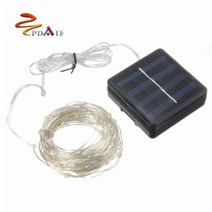 Solar Rope Fairy Light battery wedding decoration battery operated waterproof led Christmas solar powered outdoor lighting