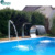 Spa Bath Stainless Steel Swimming Pool Water Curtain Cascade Waterfall