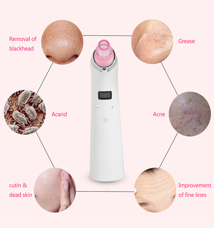 Electric Skin Cleaner Blackhead Remover Face Removal Tool Kit Vacuum Suction Device